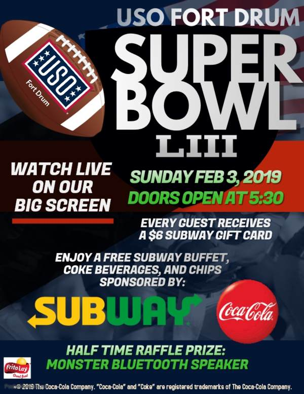 Superbowl 2019 • USO Fort Drum